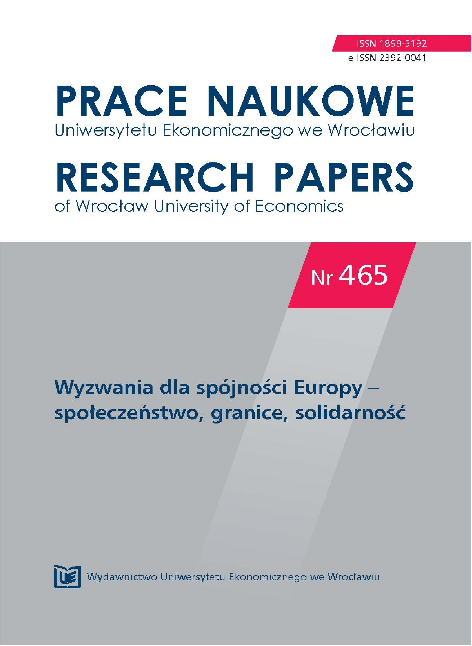 Changes of the structures of employment in Poland vs. the spatial stability of the system Cover Image