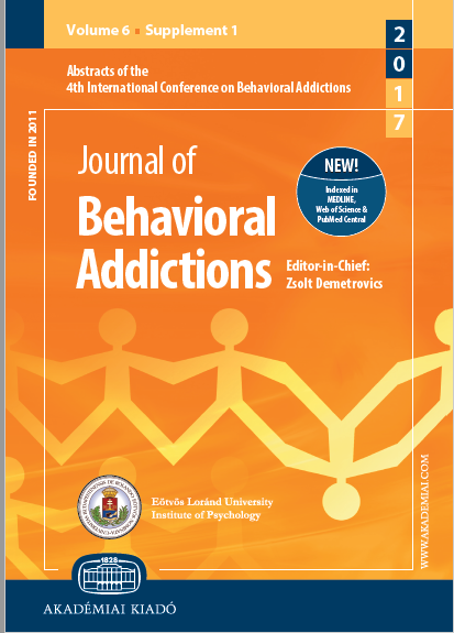 4th International Conference on Behavioral Addictions February 20–22, 2017 Haifa, Israel
