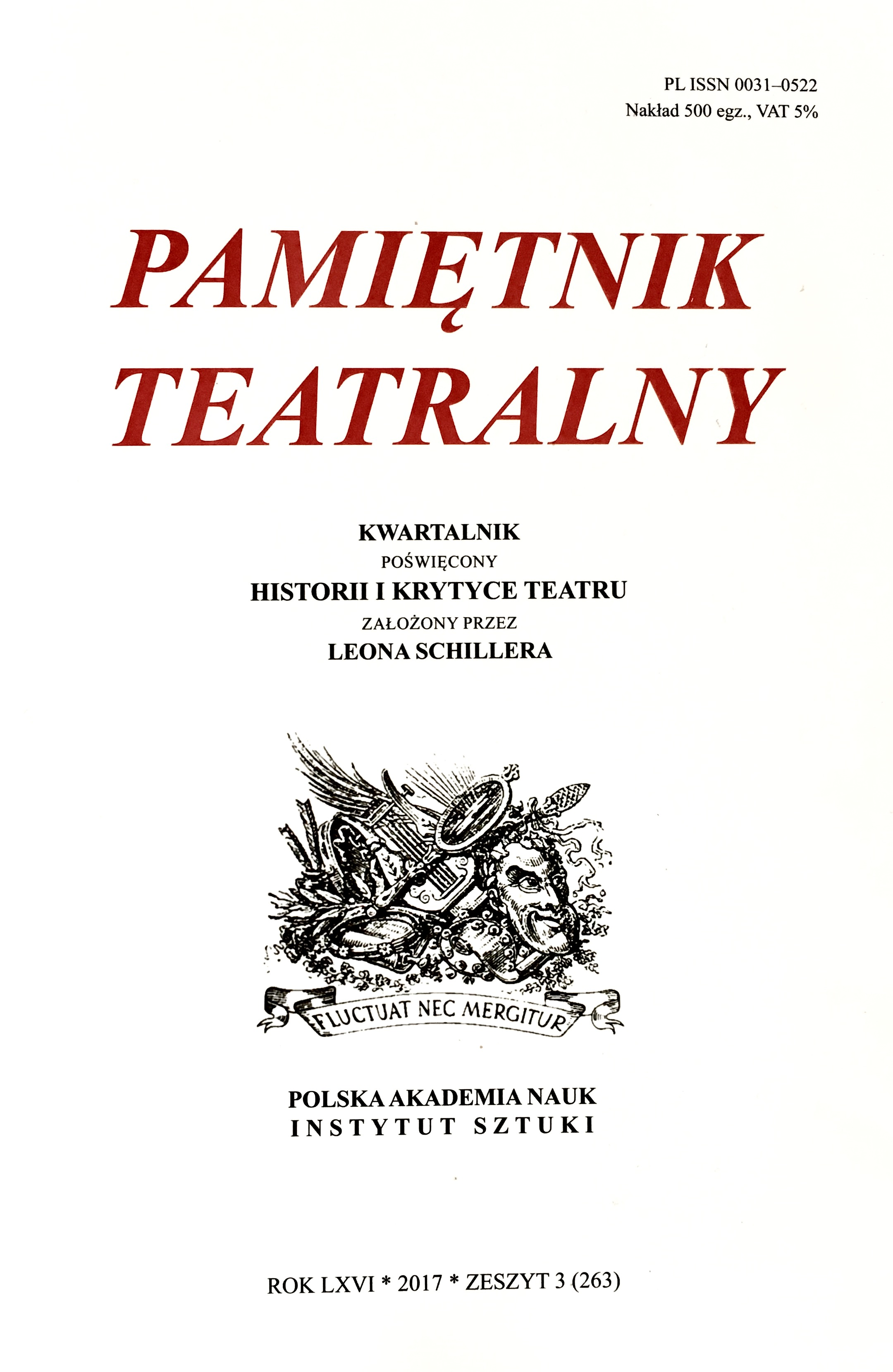 The Battle for Schiller and the Theatre in Lvov: Tymon Terlecki's Press Publications of 1930–1931 Cover Image