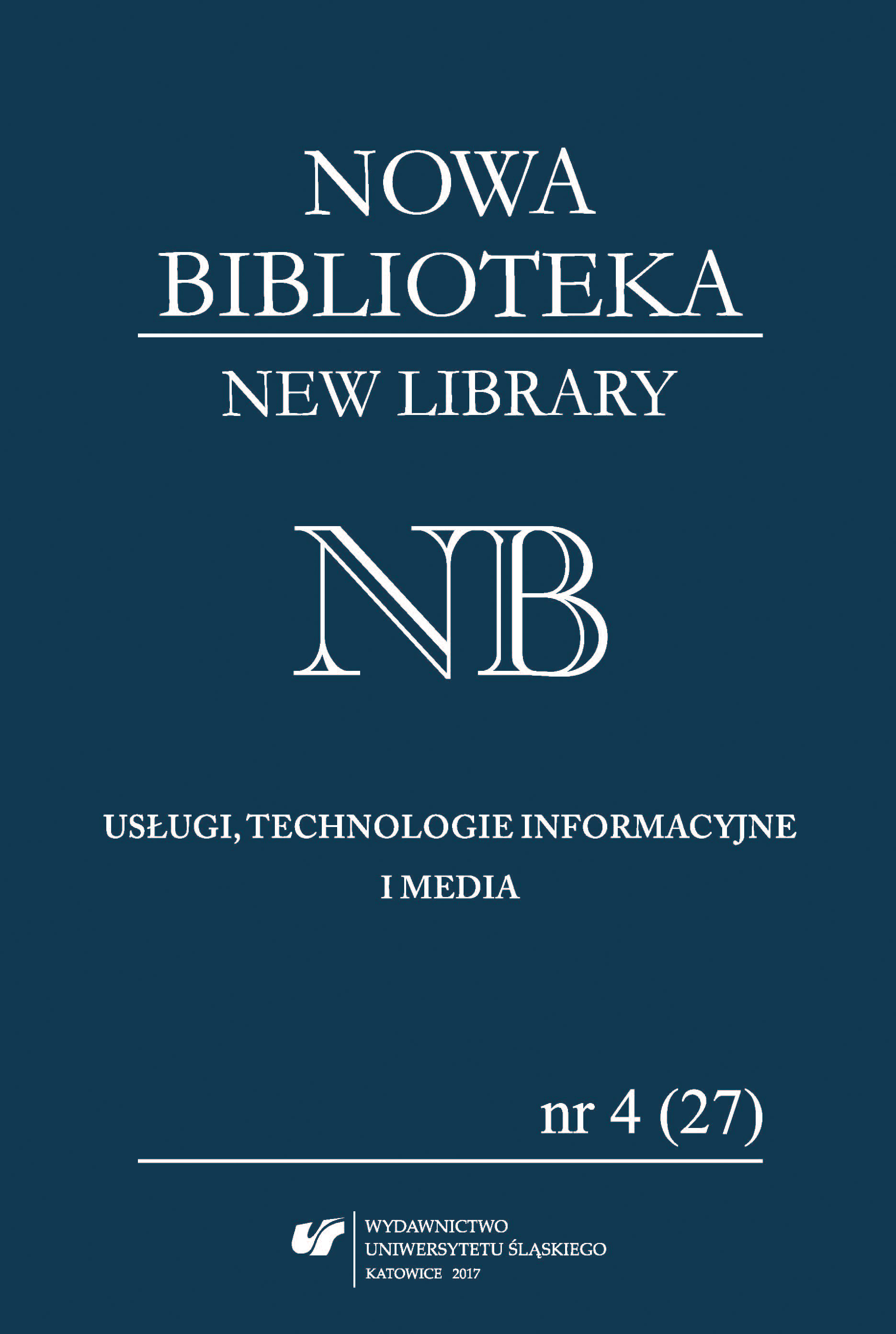 """Nowa Biblioteka. Usługi, Technologie Informacyjne i Media"" [""The New Library. Services, Information Technology and Media""] as a tool for the popularisation of scholarship (a bibliometrical analysis of a periodical) Cover Image"