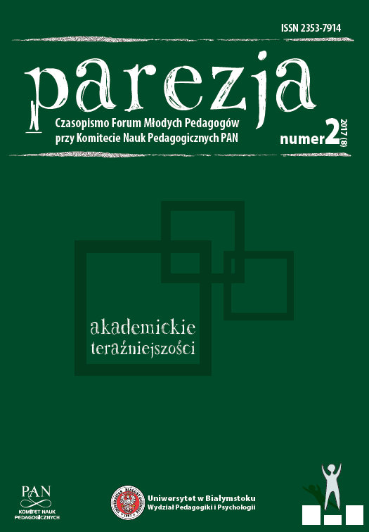 [Letter from the Editor-in-Chiefs of scientific journals published under the auspices of the Committee of Pedagogical Sciences of the Polish Academy of Sciences to the Members of the Sejm of the Republic of Poland of 31/10/2017] Cover Image