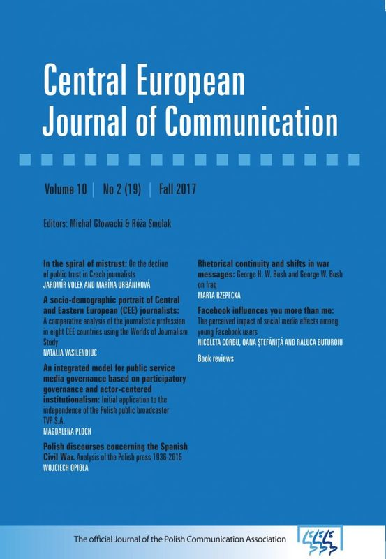 A socio-demographic portrait of Central and Eastern European (CEE) journalists: A comparative analysis of the journalistic profession in eight CEE countries using the Worlds of Journalism Study