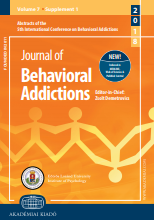 5th International Conference on Behavioral Addictions (ICBA2018), April 23–25, 2018, Cologne, Germany