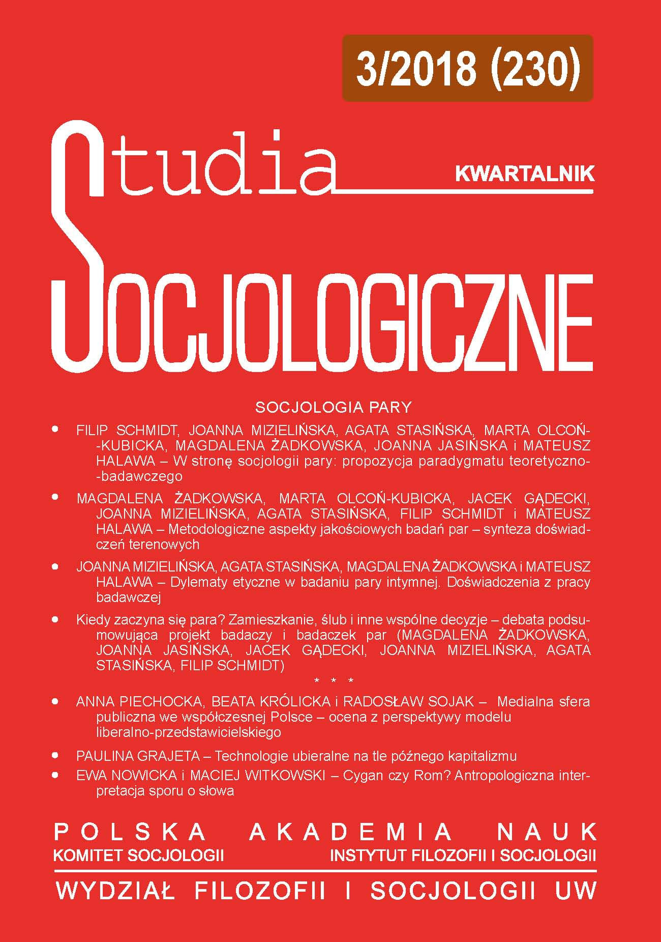 Media Public Sphere in Contemporary Poland: Evaluation in Accordance with Liberal-Representative Model Cover Image