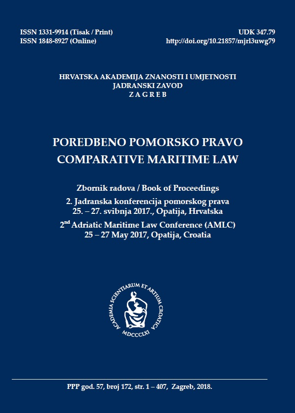 Legal framework of the combat against maritime terrorism with special reference to Croatian Coast Guard Cover Image