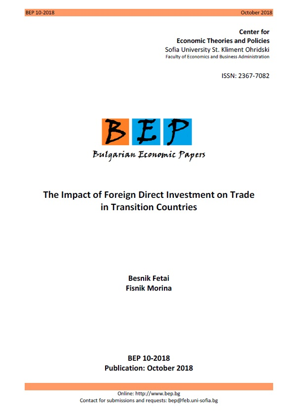 The Impact of Foreign Direct Investment on Trade in Transition Countries Cover Image