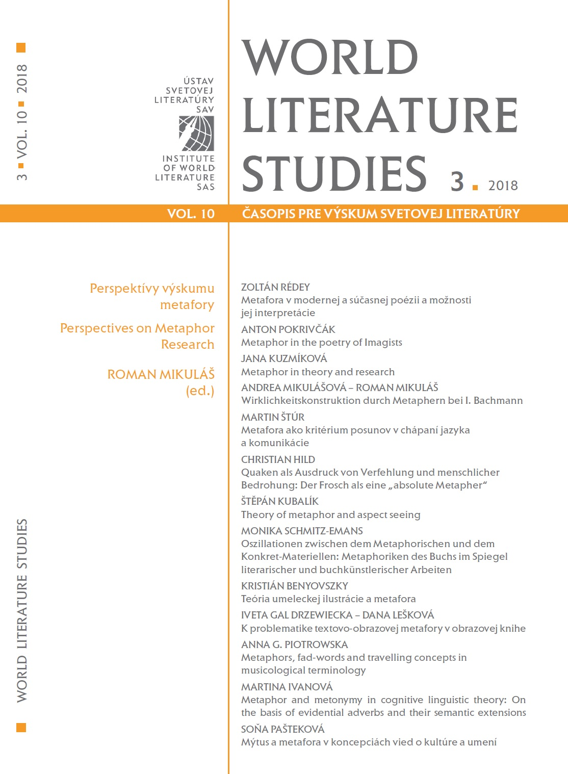 Myth and metaphor in concepts of cultural and literary studies Cover Image