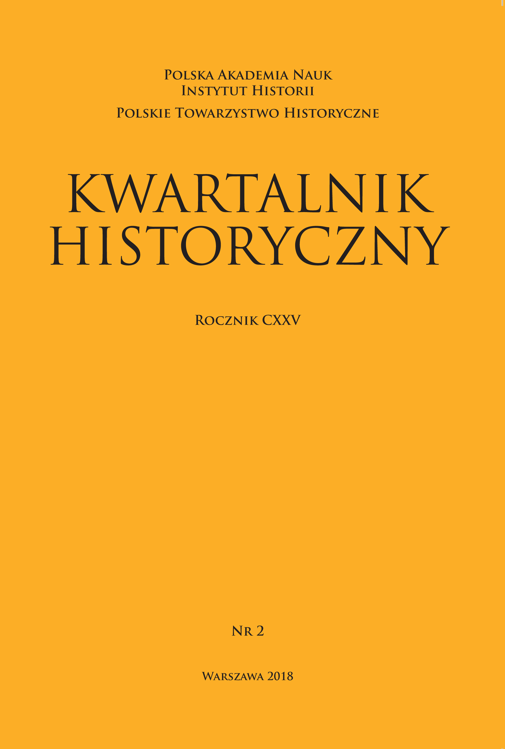 Reflections on the decline and rebirth of states (on the occasion of the 100th anniversary of Poland regaining its independence) Cover Image