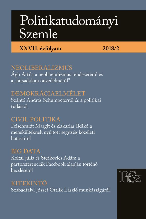 The possible role of big data in predicting party preferences based on the Facebook pages of Hungarian political parties and politicians. A methodological experiment Cover Image