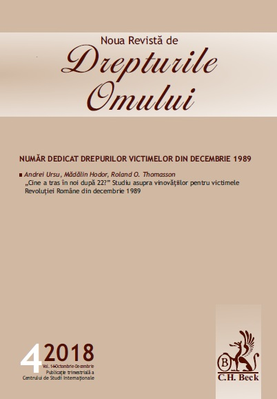 """Who shot at us after 22?"" Study on those guilty for the victims of the Romanian Revolution of December 1989 Cover Image"