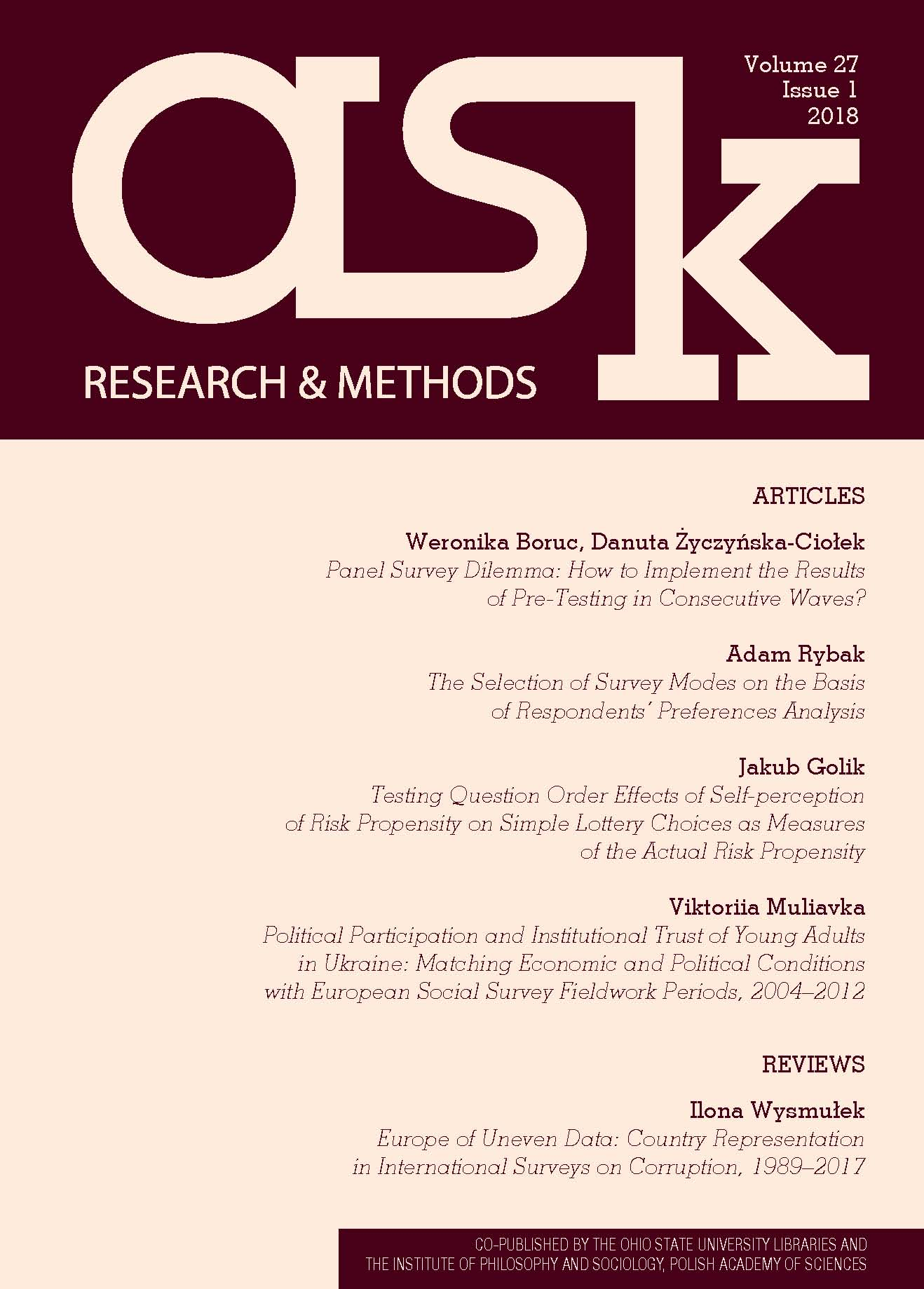 Political Participation and Institutional Trust of Young Adults in Ukraine: Matching Economic and Political Conditions with European Social Survey Fieldwork Periods, 2004–2012 Cover Image