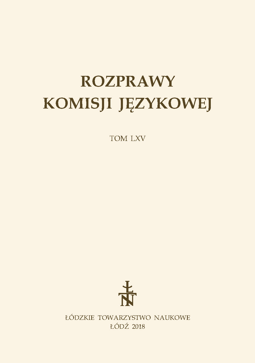 East Slavonic influences in the Northern Borderland Polish language – Belarusian influences Cover Image