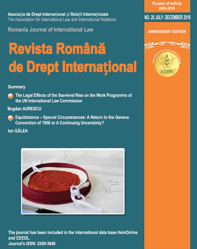 10 Years after the Maritime Delimitation in the Black Sea: the Precedential Value of the International Court of Justice's Judgment in Romania v. Ukraine Case, 3rd of February 2009