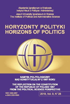 ALTERNATIVE PROJECTS OF THE NEW CONSTITUTION OF THE REPUBLIC OF POLAND: NATIONAL DEMOCRATS CASE Cover Image