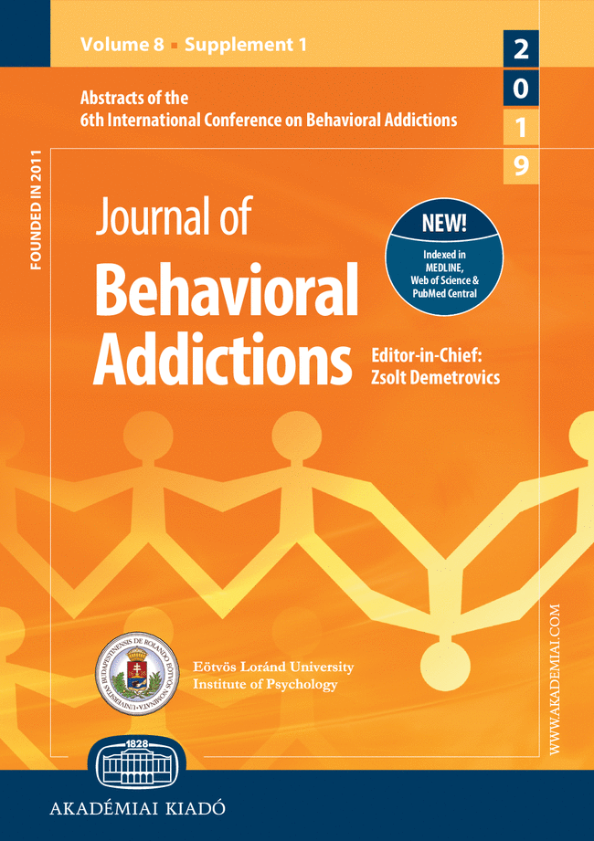 6th International Conference on Behavioral Addictions (ICBA2019), June 17–19, 2019 Yokohama, Japan