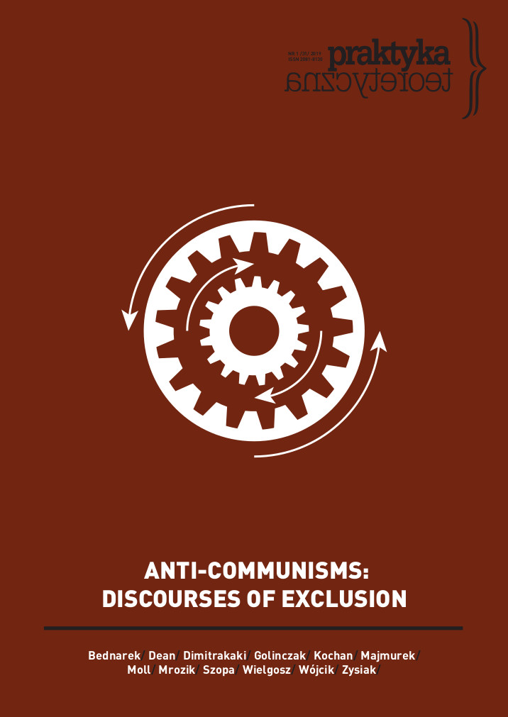 ANTI-COMMUNISMS: DISCOURSES OF EXCLUSION