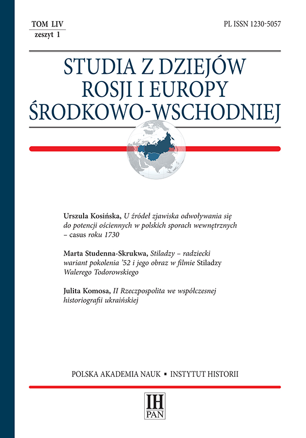 """A Person of Polish Origin"". The Terminological and Legal Aspects of Reprisals aft er the January Uprising in the Stolen Lands Cover Image"