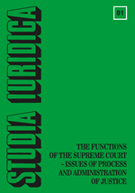 A Civil Law Perespective on the Supreme Court and its Functions