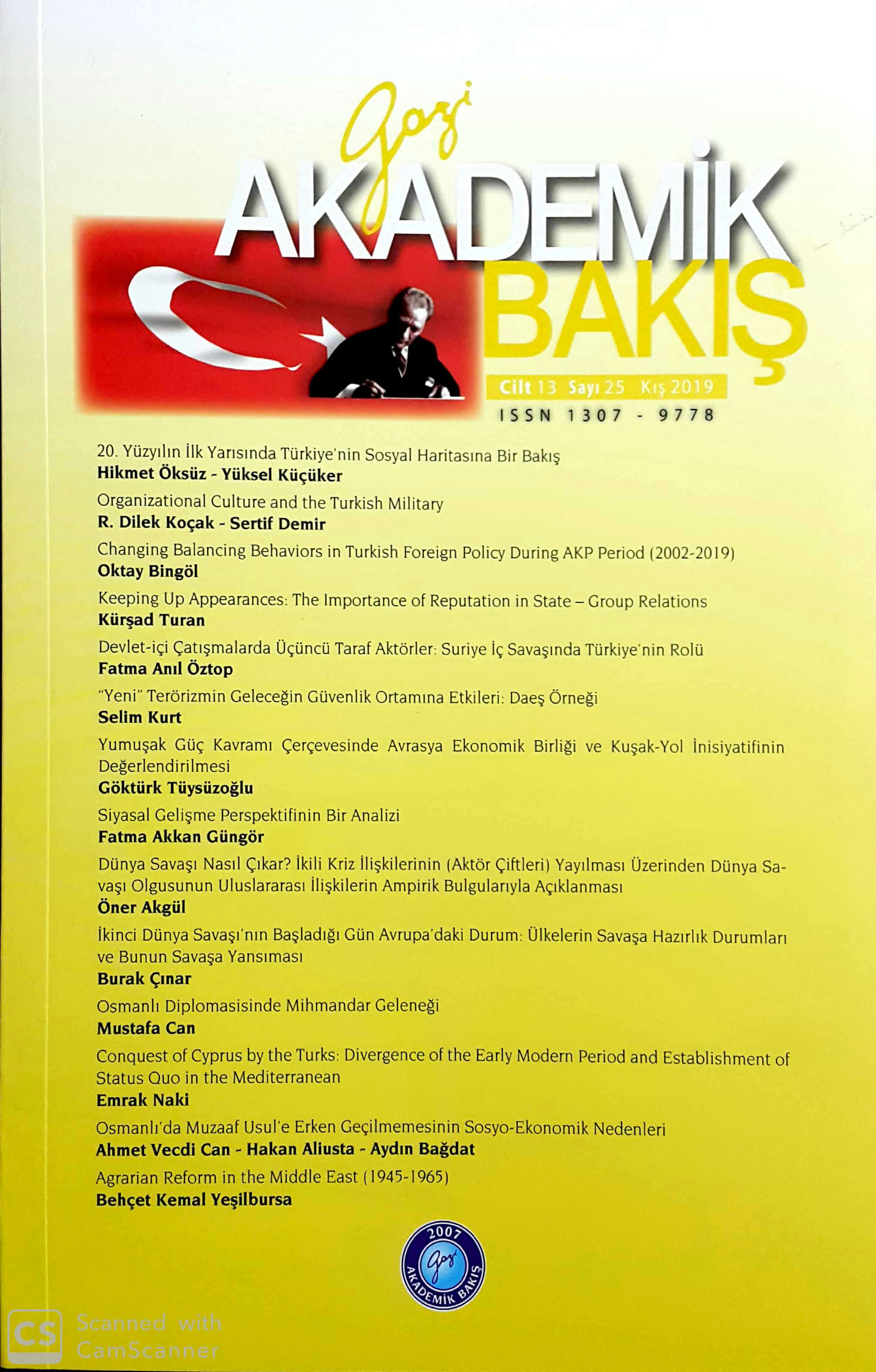 An Evaluation of the Social Map of Turkey in the First Half of 20th Century Cover Image