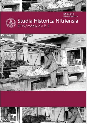 "Analysis of the Historiography of the ""History of Workers"" in the Slovak State (1939 – 1945) until 1989 Cover Image"