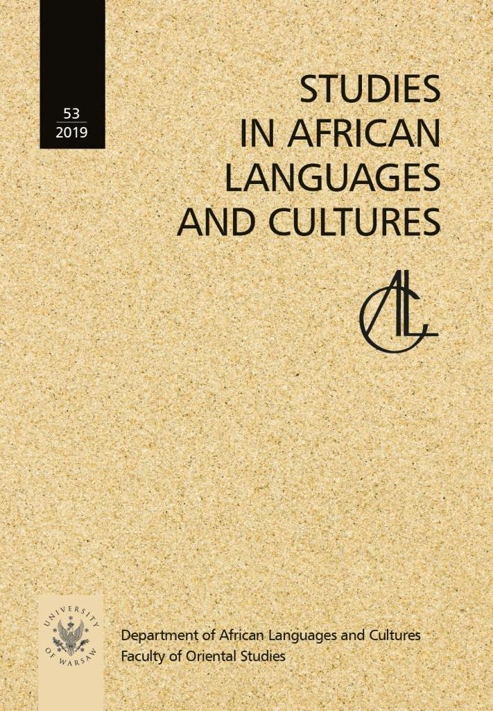 A history of African linguistics, ed. by H. Ekkehard Wolff. Cambridge: Cambridge University Press 2019, 351 pp. ISBN 978-11-0828-397-7. DOI: 10.1017/9781108283977