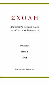 ΣΧΟΛΗ (Schole). Ancient Philosophy and the Classical Tradition Cover Image