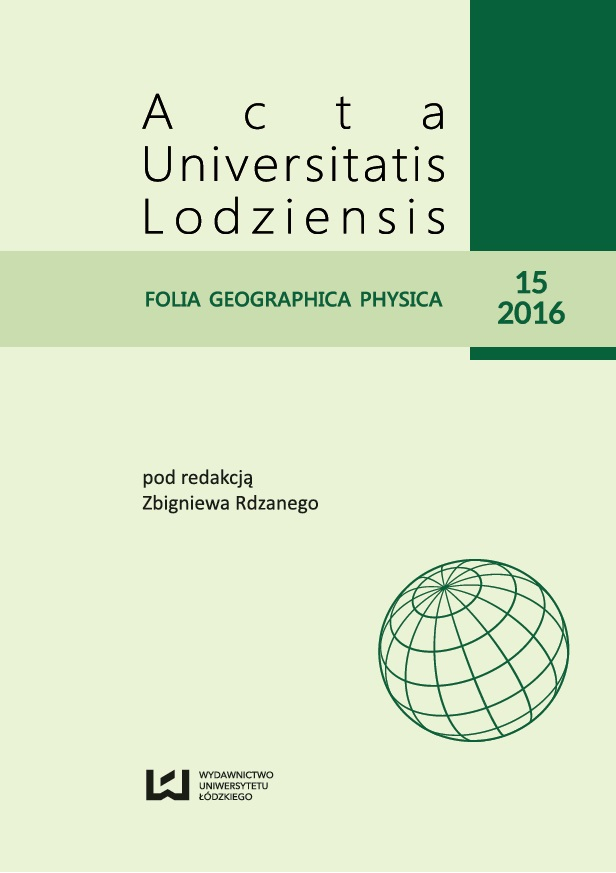 Acta Universitatis Lodziensis. Folia Geographica Physica Cover Image
