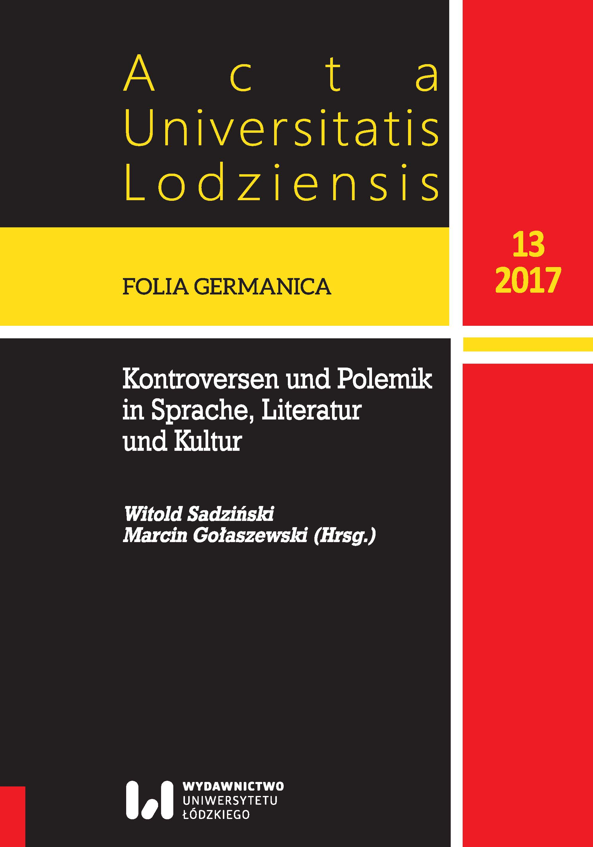 Acta Universitatis Lodziensis. Folia Germanica