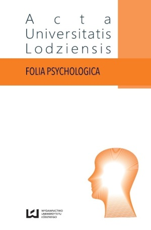 Acta Universitatis Lodziensis. Folia Psychologica