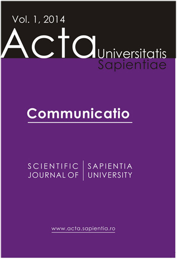 Acta Universitatis Sapientiae, Communicatio Cover Image