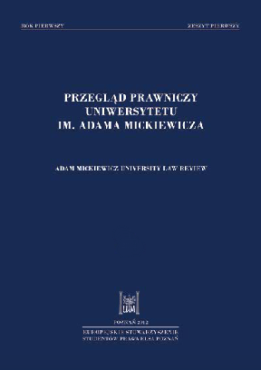 Adam Mickiewicz University Law Review Cover Image