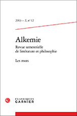 ALCHEMY. Semiannual journal of literature and philosophy Cover Image