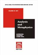Analysis and Metaphysics Cover Image