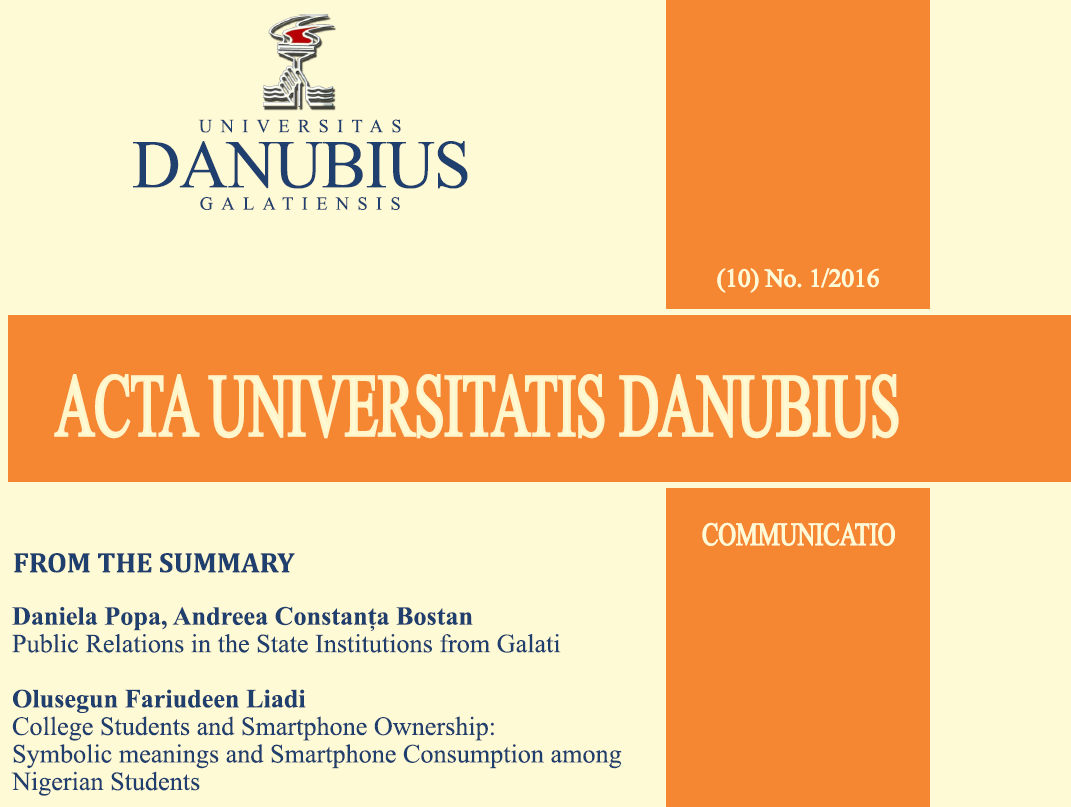 Acta Universitatis Danubius. Communicatio