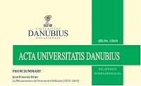 Acta Universitatis Danubius. Relationes Internationales