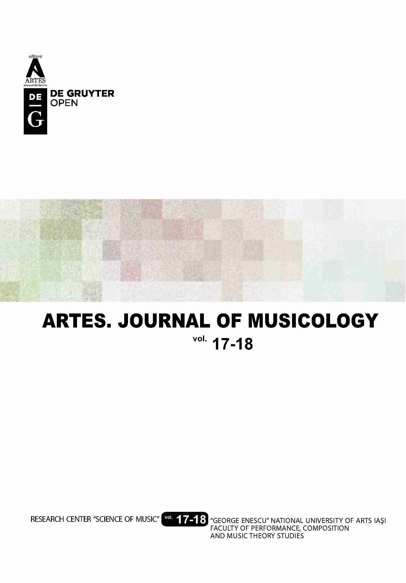 Artes. Journal of musicology Cover Image