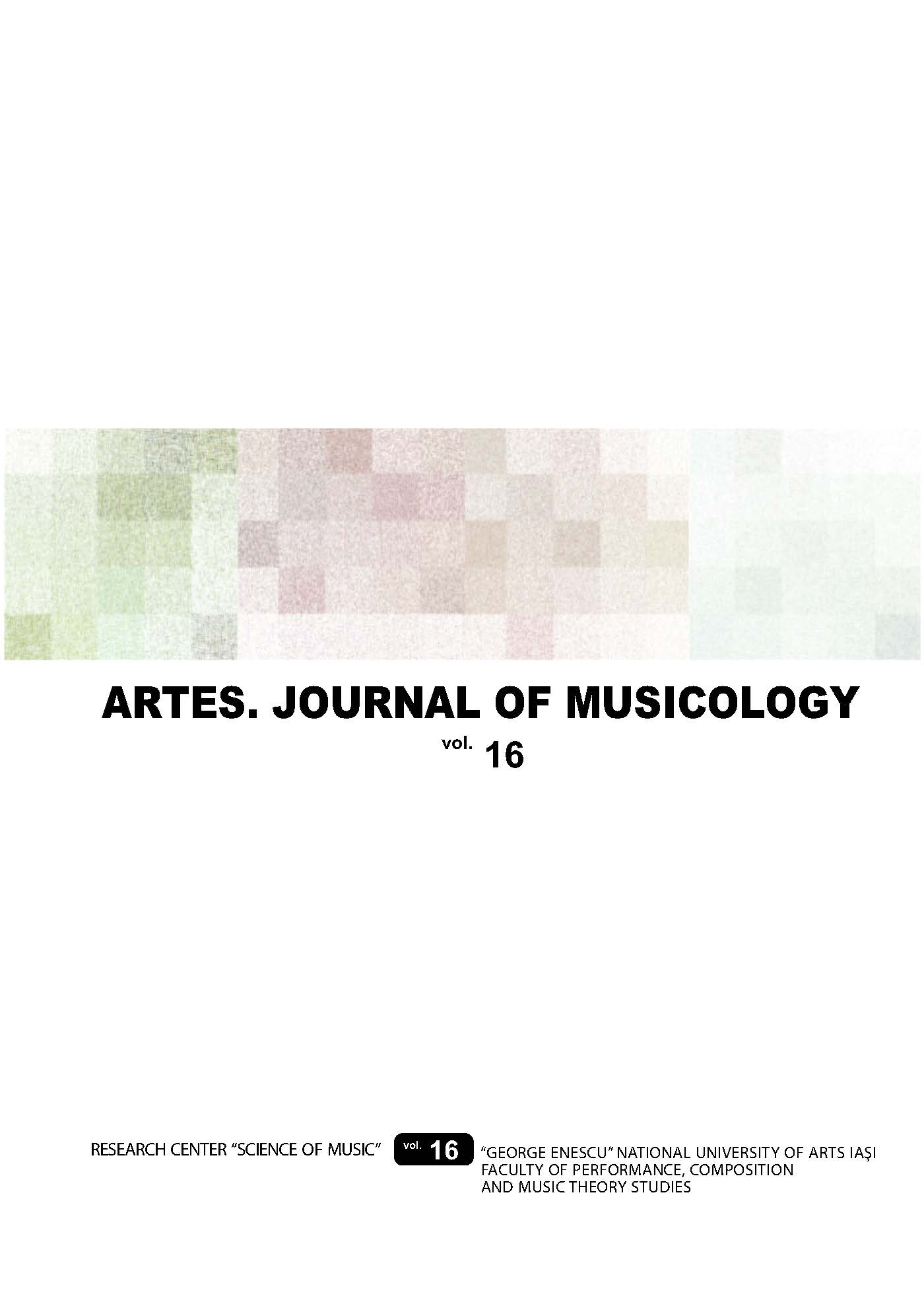 Artes. Journal of musicology