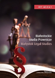 Bialystok Legal Studies Cover Image
