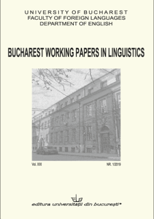 Bucharest Working Papers in Linguistics