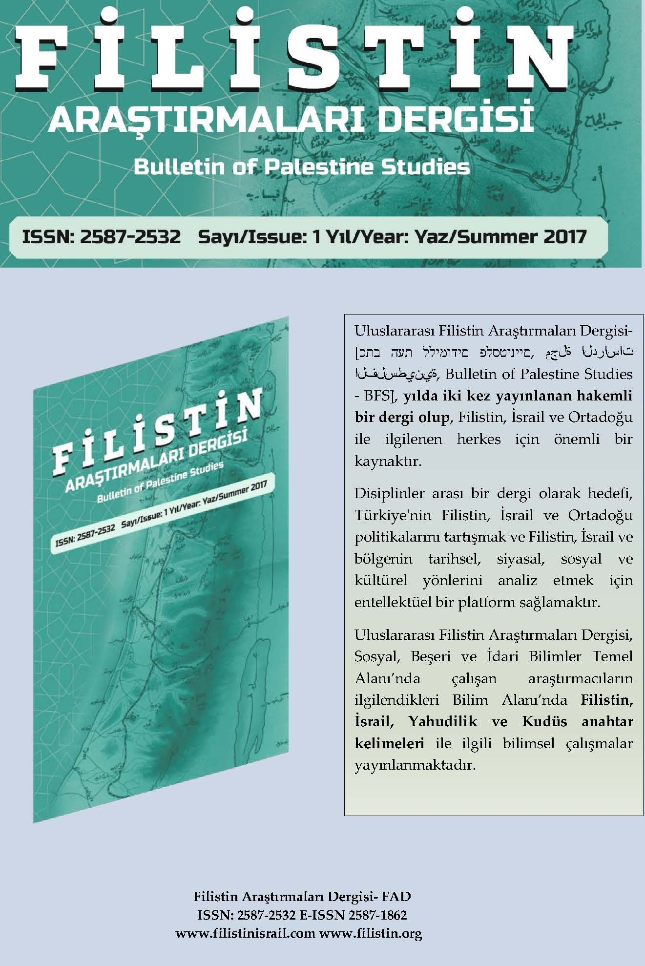 BULLETIN OF PALESTINE STUDIES Cover Image