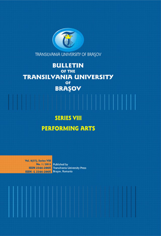Bulletin of the Transilvania University of Braşov, Series VIII: Performing Arts Cover Image