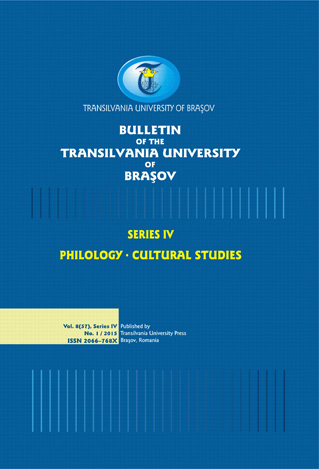 Bulletin of the Transilvania University of Braşov, Series IV: Philology & Cultural Studies