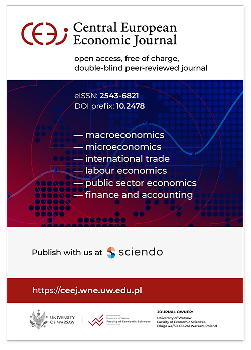 Central European Economic Journal Cover Image