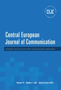 Central European Journal of Communication Cover Image