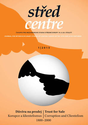 Centre. Journal for Interdisciplinary Studies of Central Europe in the 19th and 20th Centuries Cover Image