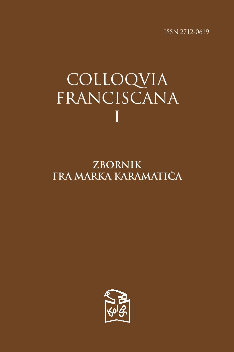 Colloquia franciscana Cover Image