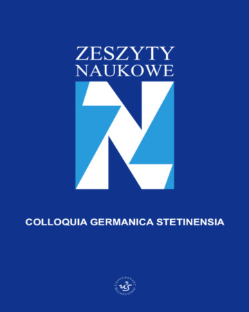 Colloquia Germanica Stetinensia Cover Image