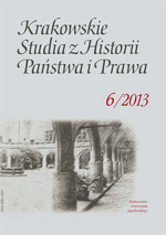 Cracow Studies of Consitutional and Legal History Cover Image