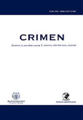 CRIMEN - Journal for Criminal Justice Cover Image