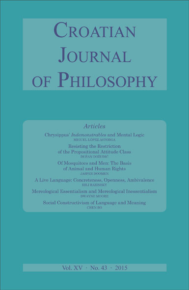 Croatian Journal of Philosophy Cover Image